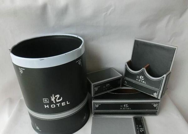 皮质便签本收银夹垃圾桶鞋框皮革纸巾盒皮具托盘茶盒
