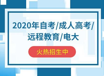 2020年自考 成人高考 远程教育 电大学历提升